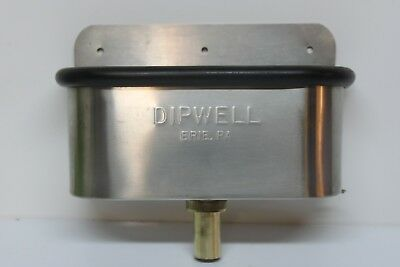 "Dipwell 10"" Stainless Steel Ice Cream Sink"