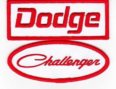 Dodge Challenger White Sew/iron On Patch Badge Embroidered Hemi Mopar