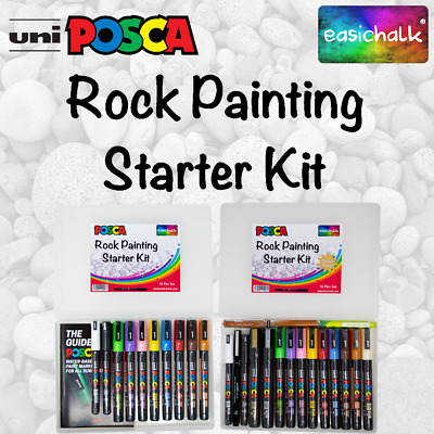 Posca Rock Painting Starter Kits, Standard or Deluxe. Chosen by experts.