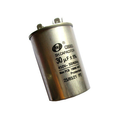Motor Run Capacitor 30uF 450VAC 50/60Hz Round Metallized