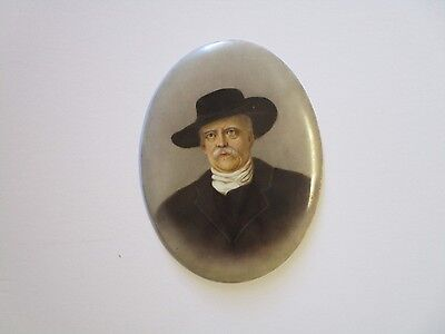 Antique Kpm Porcelain Oval Painting Rare Marked Signed Portrait 19Th Century Art