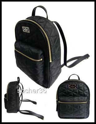 72b55e78a878 Kate Spade Wilson Road Quilted Small Bradley Nylon Backpack Blk Wkru4752  Nwt 279