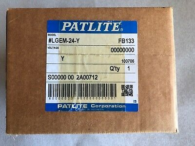 Patlite Lgem-24-Y Yellow Replacement Led Module New In Box!
