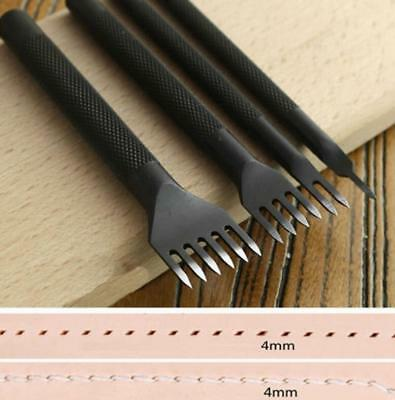 Leather Craft Tools Hole Chisel Graving Stitching Punch Tool Set 4mm/3mm Steel
