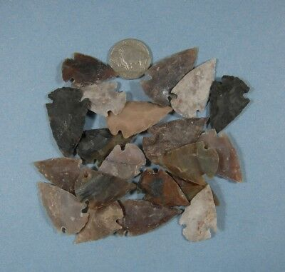 Arrowhead Spearhead Lot Collection & Old Vintage 1924 Buffalo Nickel
