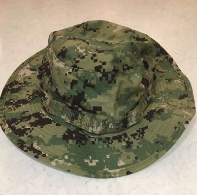 NWT NWU Type III Navy Seal AOR2 Digital Woodland Boonie Hat SUN COVER size MED