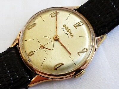 Vintage Dogma Prima Swiss Made Hand winding Gent Dress watch, Working