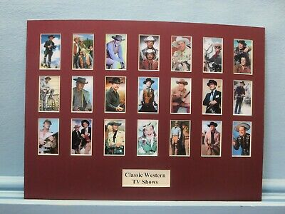 Classic Western TV Shows depicting the stars of 21 Different Western Shows