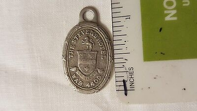 Vintage Rare Stevens Hotel Chicago Illinois Charge Account Key Tag Fob Badge