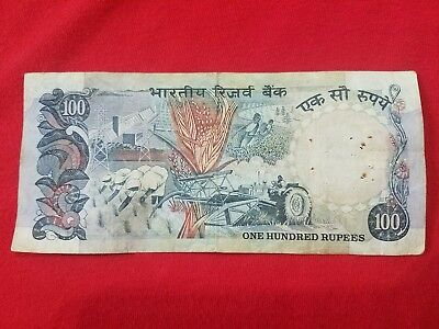 1987 100 Rupees indian, India banknote