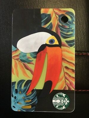 Toucan In Rain Forest / Jungle. Starbucks Card UK Coffee. Mini Card out May 2018