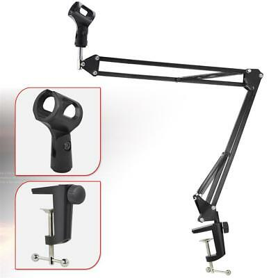New Mic Microphone Suspension Boom Scissor Arm Stand Holder for Studio Broadcast