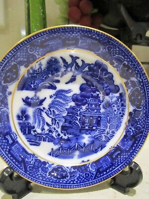 Paragon Blue and white Asian inspired design Saucer