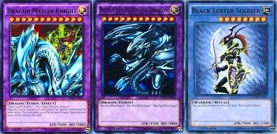 Dragon Master Knight Fusion: Black Luster Soldier +Blue-Eyes Ultimate Dragon LDK