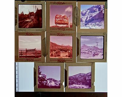 "2.25"" Lg Format Camera 60mm 8 Slides Color Photos Sedona Jerome AZ 1960's Kodak"