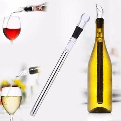 Stainless Steel Wine Bottle Cooling Chill Ice Cool Freezer Stick Rod and Pourer