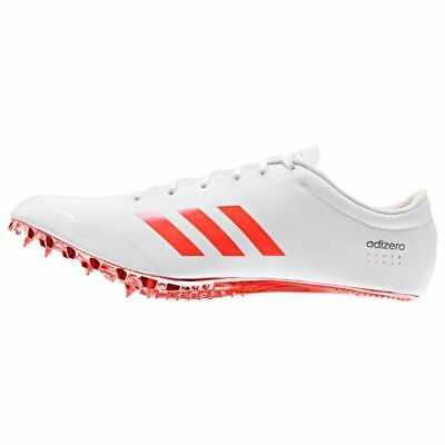 55c517629d82 NEW ADIDAS ADIZERO Prime SP Print Track Spikes White Orange Men s Sz ...