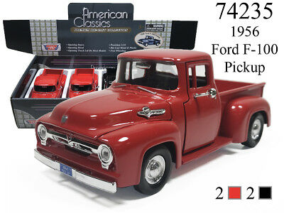 New Motormax 1/24 - 1956 FORD F-100 PICKUP DIECAST MODEL CHOOSE COLOR