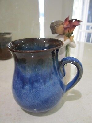 Blue/BrownPottery mug Retro Collectible