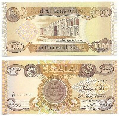 IRAQI DINAR-IQD, 10,000, (10-1,000 Notes)-*UNCIRCULATED-MINT CONDITION*-Iraq