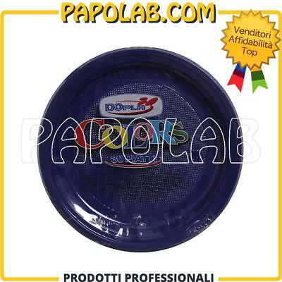 30 Piatti Di Plastica Colorati Dopla Colors Ø22 Blu Feste Party Apericena