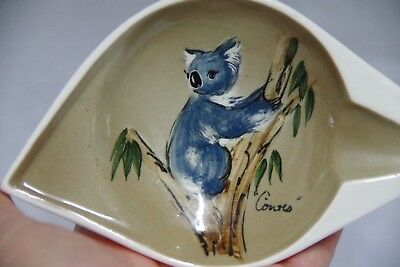 Studio Anna Koala Ashtray Vintage Australian Pottery Retro  1950's