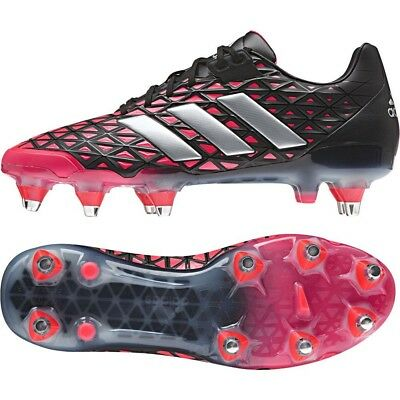5233bb264 Mens adidas adipower Kakari SG Soft Ground Rugby Studs Boots Red Black  AQ2036