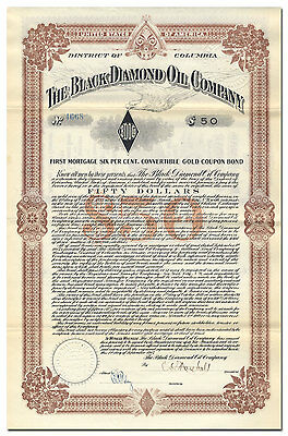 Black Diamond Oil Company Bond Certificate