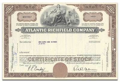 Atlantic Richfield Company Stock Certificate