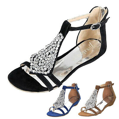 Sexy Shoes summer Glamour Elegant Ladies Gorgeous Flats Womens Sandals Size
