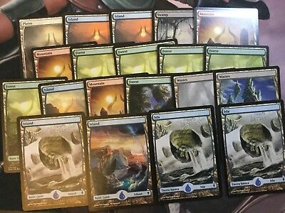 Mtg, 20x Full-Art Basic Lands. Zendikar, Amonkhet, BFZ Basic Land Bundle.