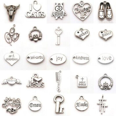 Jewelry Findings Lot Vintage Tibet Silver Peacock Elephant Animal Pendant Charms