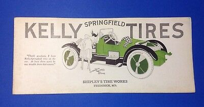 1920's Shipley's Tire, Frederick, MD Illustrated Blotter
