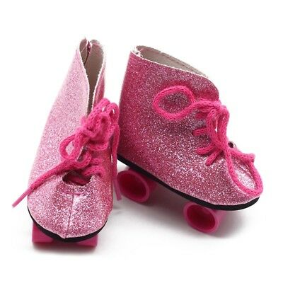 Pair of Roller Skates Shoes for 18inch American Girl Journey Doll Clothing DW2T9