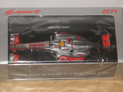 McLAREN MERCEDES MP4-26, #3, Lewis Hamilton, 2011 Winner Chinese GP!!!