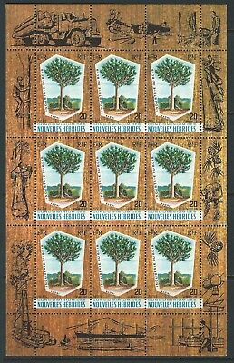 New Hebrides - #132 - Timber Industry Souvenir Sheet (1969) Mnh