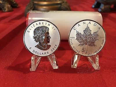 2016 Canada 25 ROLL 1 oz Silver Maple Leaf Lunar Monkey Privy Last One