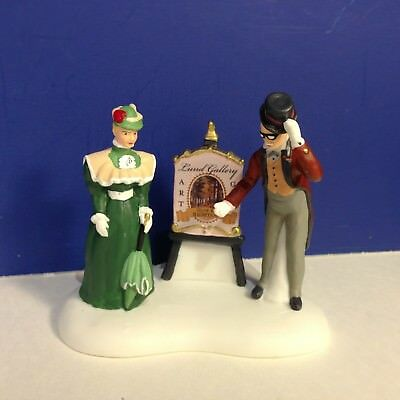Dept 56 Dickens Village WELCOME TO LUND'S ART SHOW w/box NEW! Combine Ship!