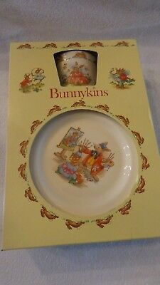 Royal Doulton Bunnykins Childrens 3 piece set cereal bowl plate mug New In Box