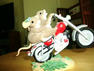"Charming Tails Mouse Pair on  Motorcycle - Collectible  ""You Wheelie Excite Me"""