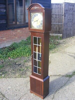 Very pretty Mahogany  Westminster Chimes Grandmother Clock