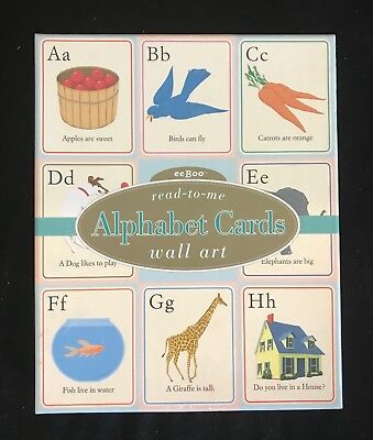 ANTHROPOLOGIE ALPHABET WALL CARDS - Eeboo Read-To-Me - Vintage Inspired