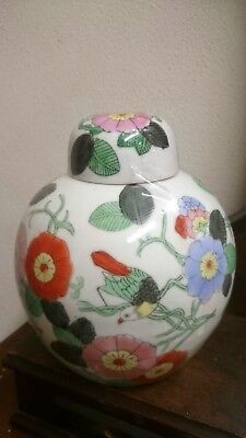 porcellana cinese vaso potiche fiori jar chinese china cina old ancient painted