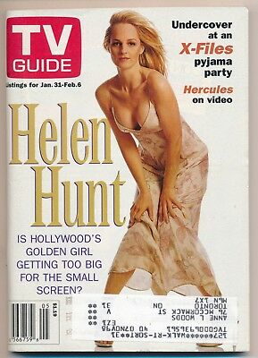 TV Guide-Helen Hunt-X-Files-Cameron Mathison-Fred Savage-January 31-Feb 6-1998