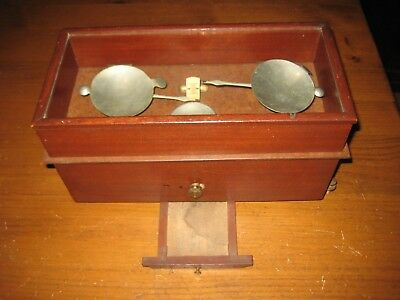 ANTIQUE APOTHECARY DRUG STORE TORSION BALANCE SCALE c 1890