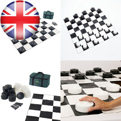 Garden Games Draughts, Checkers - 10 Centimetre Diameter Pieces with 1.2...