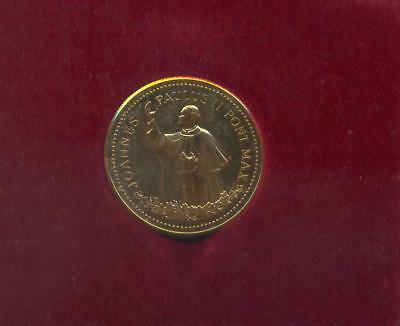 Canada 1984 Official Commemorative Medal Gold Plated Papal Visit John Paul II