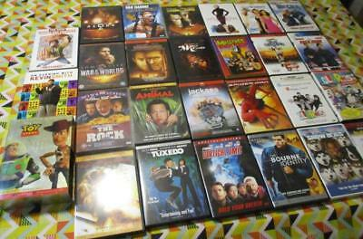 BULK 27+ DVD's R1 Rush Hour The Bourne Identity Snow Dogs Silence of the Lamb