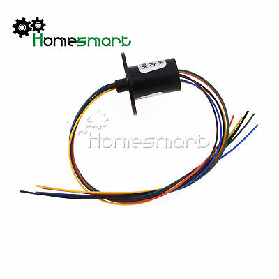AC240V 12.5mm 300Rpm 6 Wires CIRCUITS 2A Capsule Slip Ring for Monitor Robotic