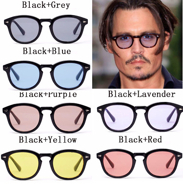 6b244409e0 Sunglasses Vintage Johnny Depp Men Frame Retro Clear Fashion Glasses Tinted  Lens